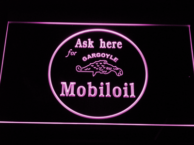 Mobiloil LED Neon Sign - Purple - SafeSpecial