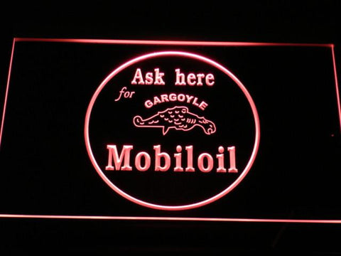 Image of Mobiloil LED Neon Sign - Red - SafeSpecial