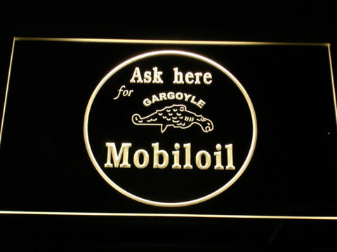 Image of Mobiloil LED Neon Sign - Yellow - SafeSpecial