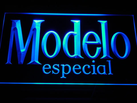 Image of Modelo Especial LED Neon Sign - Blue - SafeSpecial
