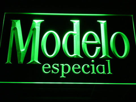 Image of Modelo Especial LED Neon Sign - Green - SafeSpecial