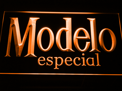 Image of Modelo Especial LED Neon Sign - Orange - SafeSpecial