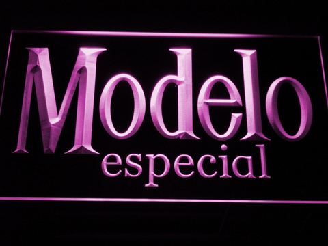Image of Modelo Especial LED Neon Sign - Purple - SafeSpecial