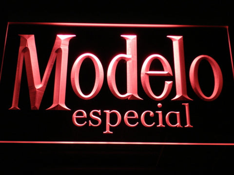 Image of Modelo Especial LED Neon Sign - Red - SafeSpecial