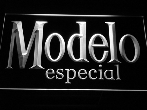 Image of Modelo Especial LED Neon Sign - White - SafeSpecial