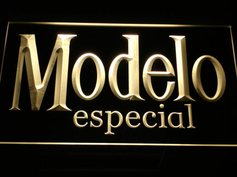 Image of Modelo Especial LED Neon Sign - Yellow - SafeSpecial