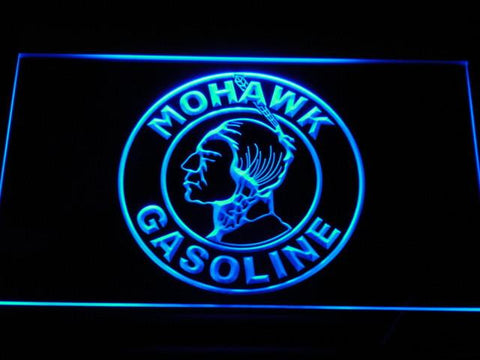 Image of Mohawk Gasoline LED Neon Sign - Blue - SafeSpecial