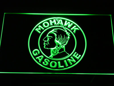 Mohawk Gasoline LED Neon Sign - Green - SafeSpecial