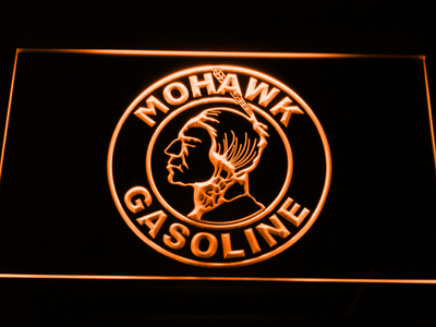 Mohawk Gasoline LED Neon Sign - Orange - SafeSpecial
