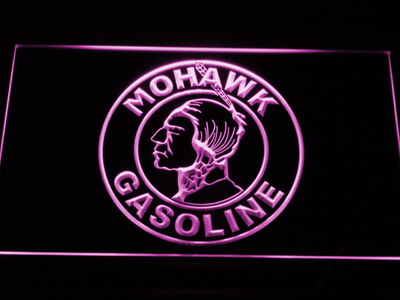 Mohawk Gasoline LED Neon Sign - Purple - SafeSpecial