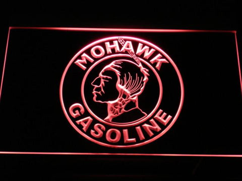 Image of Mohawk Gasoline LED Neon Sign - Red - SafeSpecial