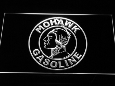 Mohawk Gasoline LED Neon Sign - White - SafeSpecial