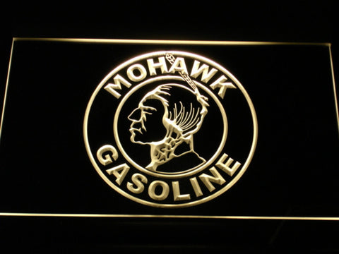 Image of Mohawk Gasoline LED Neon Sign - Yellow - SafeSpecial