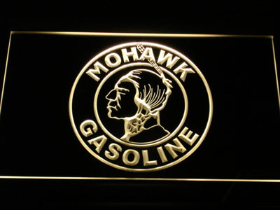 Mohawk Gasoline LED Neon Sign - Yellow - SafeSpecial