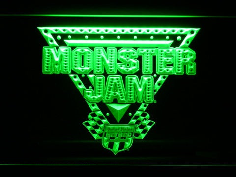 Image of Monster Jam LED Neon Sign - Green - SafeSpecial