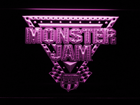 Image of Monster Jam LED Neon Sign - Purple - SafeSpecial