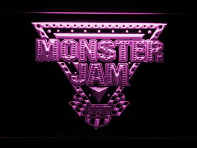 Monster Jam LED Neon Sign - Purple - SafeSpecial
