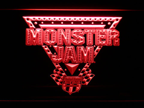 Image of Monster Jam LED Neon Sign - Red - SafeSpecial