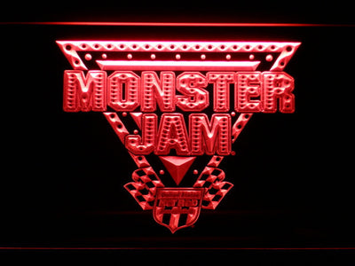 Monster Jam LED Neon Sign - Red - SafeSpecial