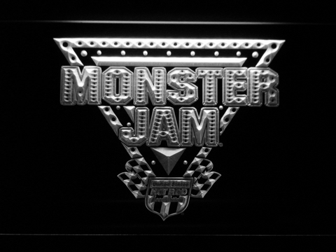 Image of Monster Jam LED Neon Sign - White - SafeSpecial
