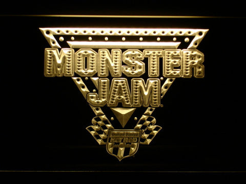 Image of Monster Jam LED Neon Sign - Yellow - SafeSpecial