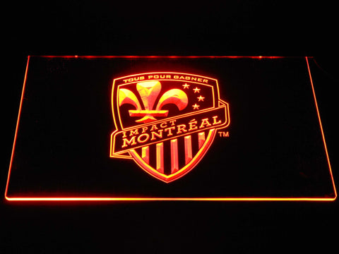 Image of Montreal Impact LED Neon Sign - Orange - SafeSpecial