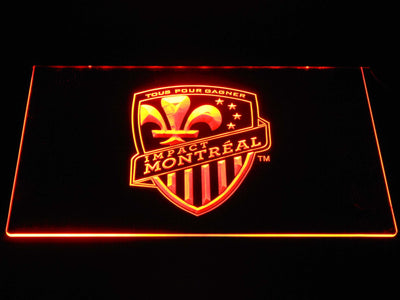 Montreal Impact LED Neon Sign - Orange - SafeSpecial