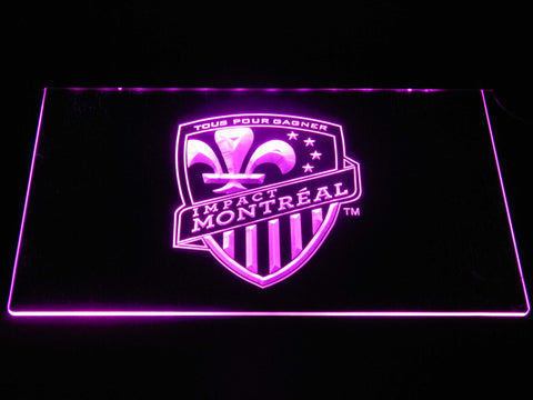 Image of Montreal Impact LED Neon Sign - Purple - SafeSpecial