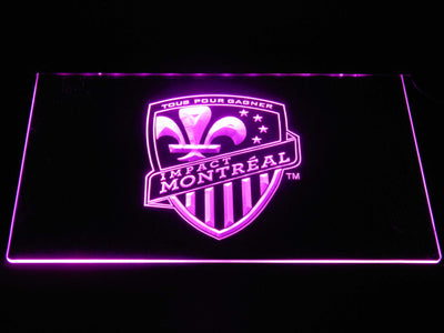 Montreal Impact LED Neon Sign - Purple - SafeSpecial