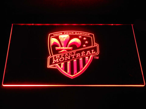 Image of Montreal Impact LED Neon Sign - Red - SafeSpecial
