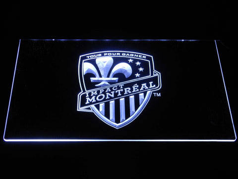 Image of Montreal Impact LED Neon Sign - White - SafeSpecial