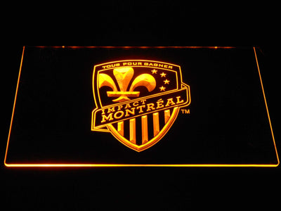 Montreal Impact LED Neon Sign - Yellow - SafeSpecial