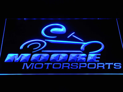 Moore Motorsports LED Neon Sign - Blue - SafeSpecial