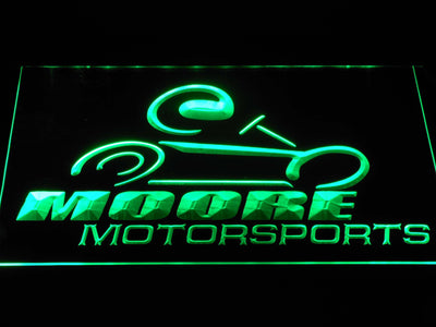 Moore Motorsports LED Neon Sign - Green - SafeSpecial