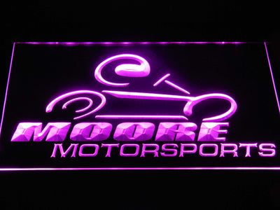 Moore Motorsports LED Neon Sign - Purple - SafeSpecial