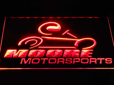 Moore Motorsports LED Neon Sign - Red - SafeSpecial