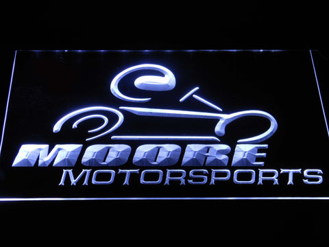 Image of Moore Motorsports LED Neon Sign - White - SafeSpecial