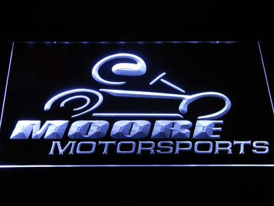 Moore Motorsports LED Neon Sign - White - SafeSpecial