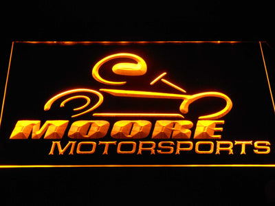 Moore Motorsports LED Neon Sign - Yellow - SafeSpecial