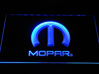 Mopar LED Neon Sign - Blue - SafeSpecial
