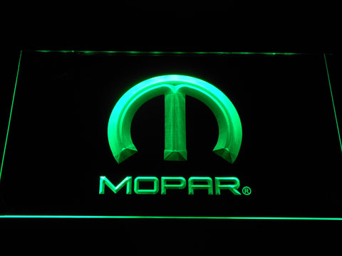 Image of Mopar LED Neon Sign - Green - SafeSpecial