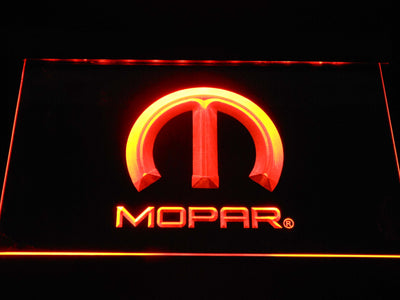 Mopar LED Neon Sign - Orange - SafeSpecial