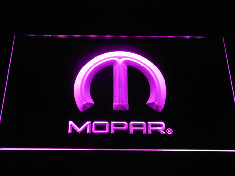Image of Mopar LED Neon Sign - Purple - SafeSpecial