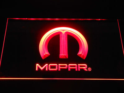 Mopar LED Neon Sign - Red - SafeSpecial