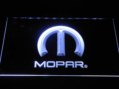 Mopar LED Neon Sign - White - SafeSpecial