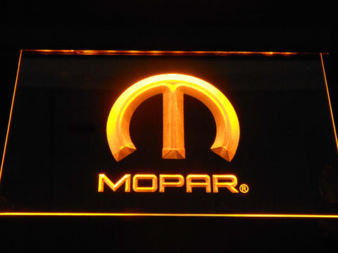 Image of Mopar LED Neon Sign - Yellow - SafeSpecial