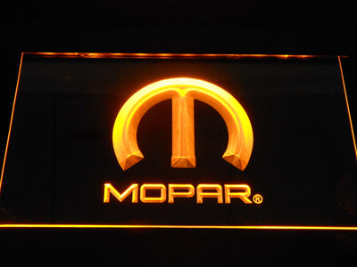 Mopar LED Neon Sign - Yellow - SafeSpecial
