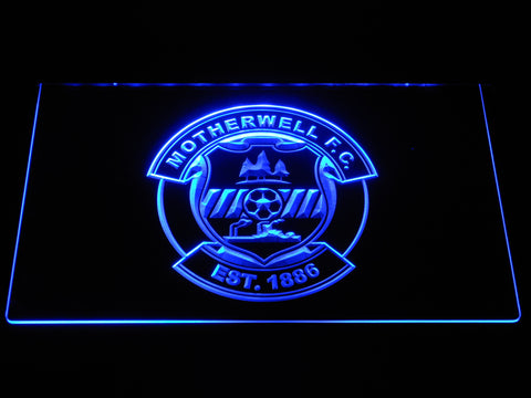 Image of Motherwell F.C. LED Neon Sign - Blue - SafeSpecial