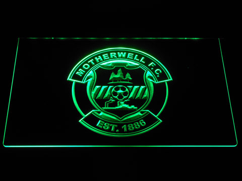 Image of Motherwell F.C. LED Neon Sign - Green - SafeSpecial