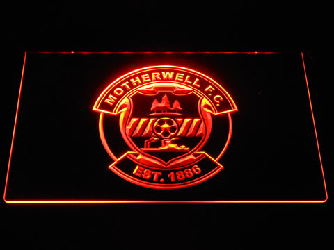 Image of Motherwell F.C. LED Neon Sign - Orange - SafeSpecial